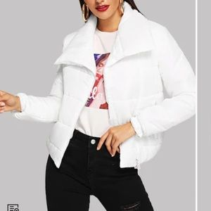 Jackets & Blazers - White puffer jacket